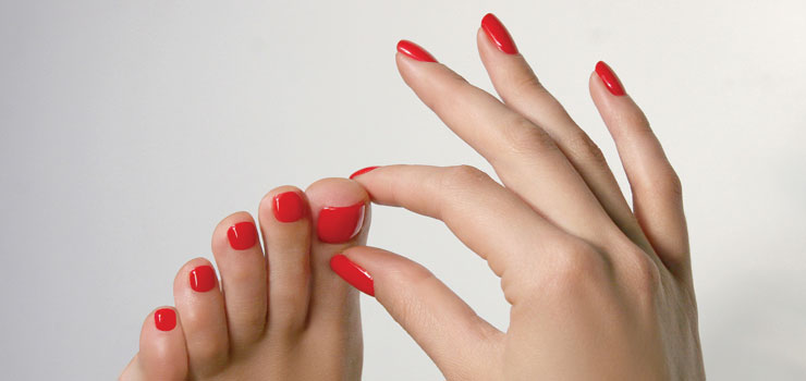 Manicure and the pedicure at Spring Mist Spa Milton