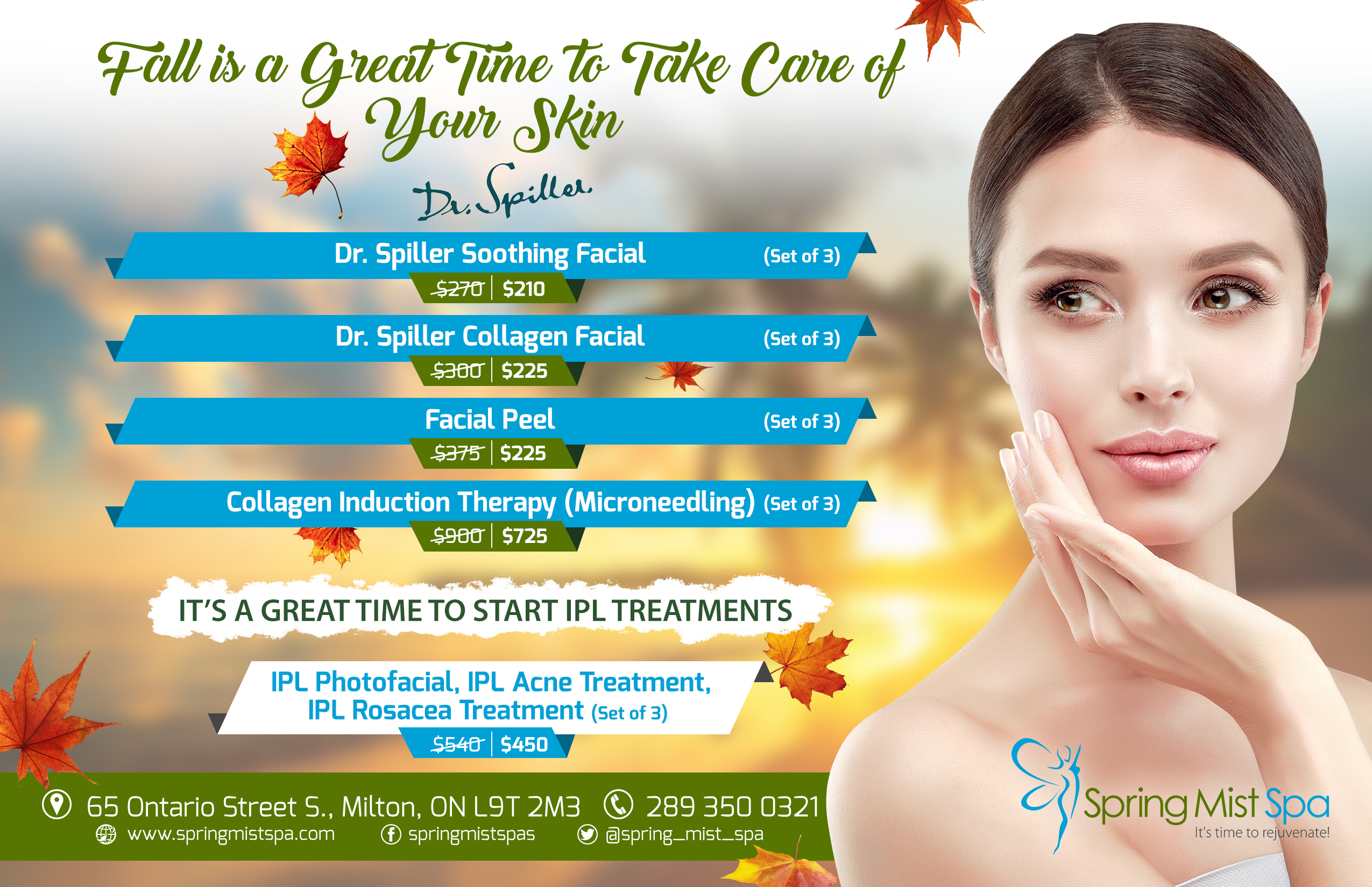 Spring Mist Milton Spa Specials, Monthly Fall Offers, Deals and Discount