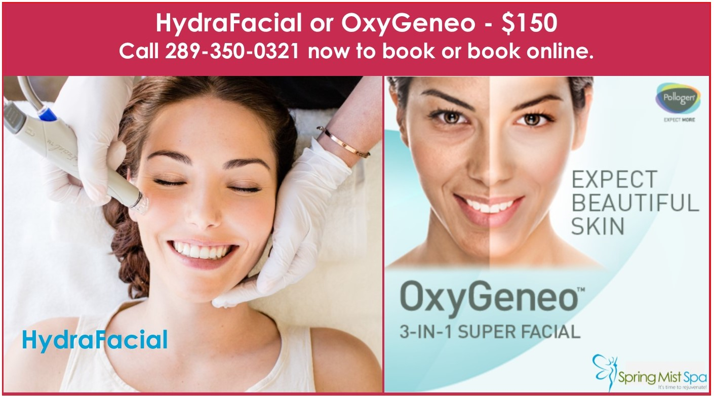 Spring Mist Milton Spa - Beautiful Glowing Skin with OxyGeneo and HydraFacial March 2019