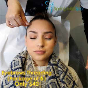 Spring Mist Milton Spa January Special: Eyebrows Threading Package of 6 - Only $40